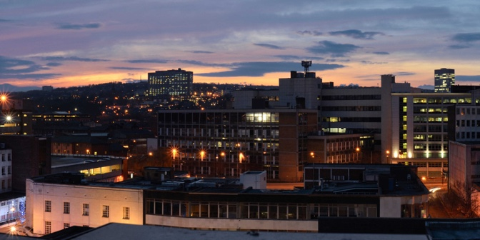 Night time in Sheffield